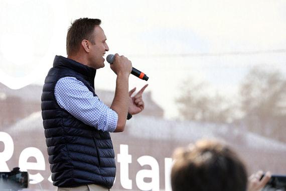 На митинге выступил Алексей Навальный, который призвал сопротивляться произволу властей