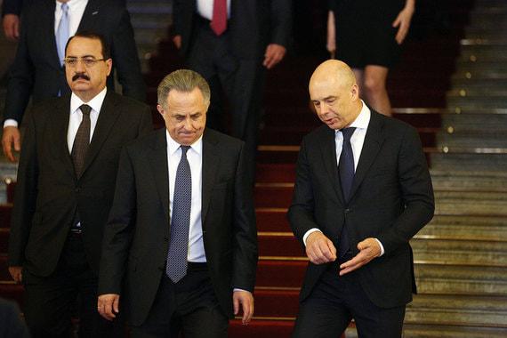 Вице-премьер Виталий Мутко и министр финансов Антон Силуанов