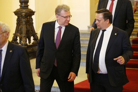 Руководитель ЦСР Алексей Кудрин и губернатор Новгородской области Андрей Никитин