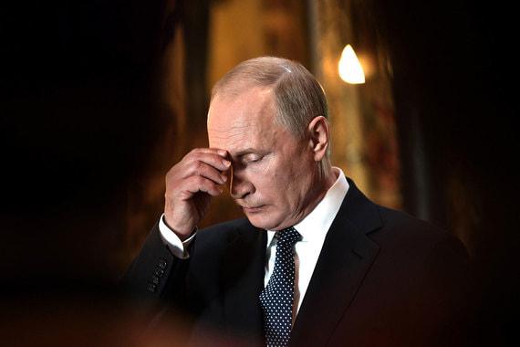 Благодарственный молебен в Благовещенском соборе Кремля