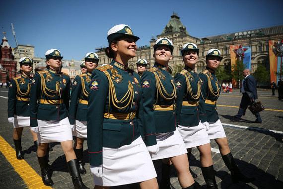 Курсантки Военного университета министерства обороны