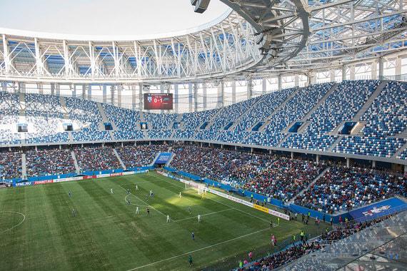 Арена в Нижнем Новгороде построена на бюджетные средства генподрядчиком «Стройтрансгаз» Геннадия Тимченко. Стоимость проекта – 17,018 млрд руб.