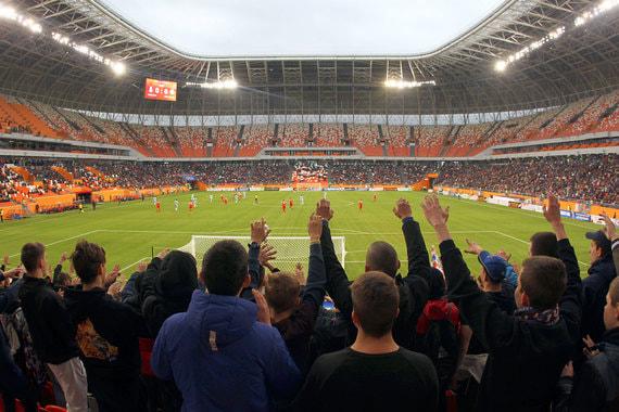 Первый тестовый матч на арене в Саранске прошел 21 апреля, второй - 4 мая