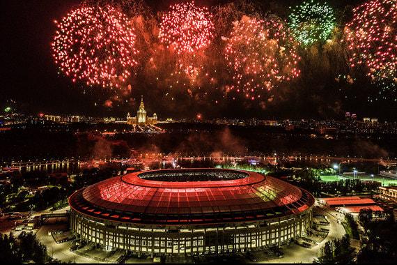 Главный стадион ЧМ-2018 – «Лужники». Здесь пройдет матч открытия  между сборными России и Саудовской Аравии, а также финал чемпионата