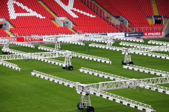 Вместимость стадиона «Спартак» («Открытие арена») - около 45 000. На стадионе, в частности, пройдет матч 1/8 финала
