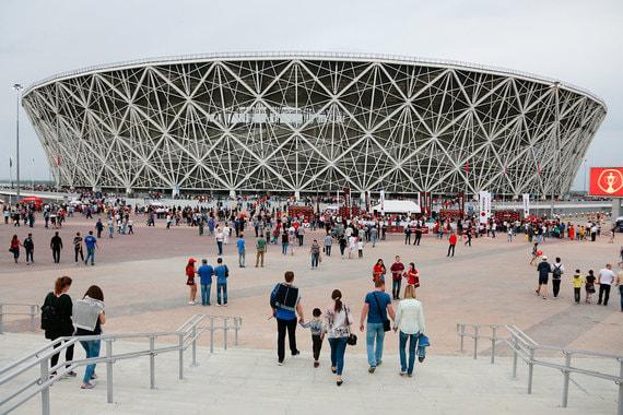 «Волгоград арена» 9 мая приняла финальный матч Кубка России. Вместимость стадиона – 45 000 человек