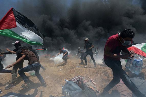 Беспорядки на границе между Израилем и сектором Газа в день открытия американского посольства в Иерусалиме
