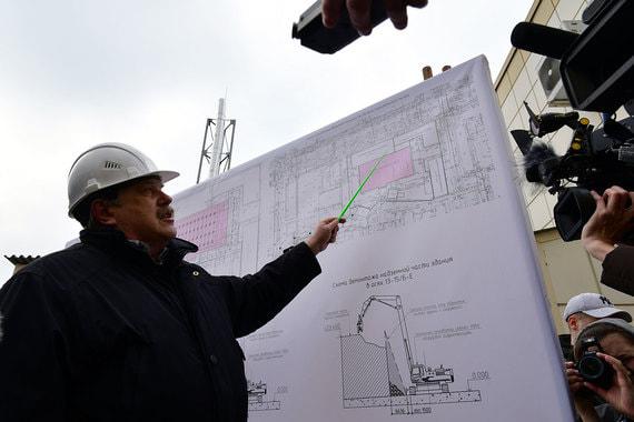 Генеральный план строительной площадки во время сноса здания ТЦ «Зимняя вишня»