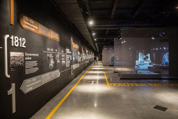 «Линия времени», где собраны основные даты технологической истории России, в Музее станка