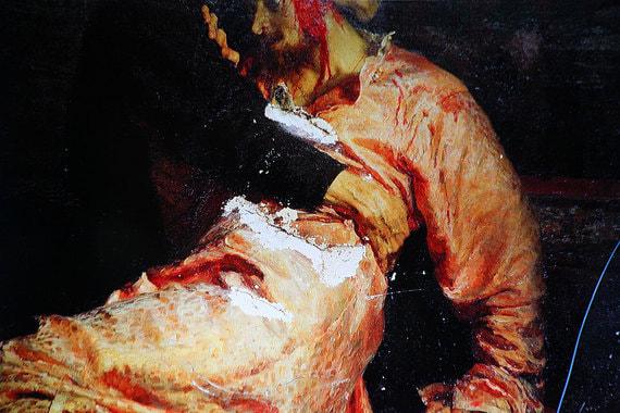 normal 1jee Третьяковская галерея показала поврежденную картину «Иван Грозный»