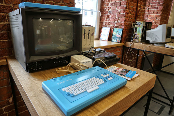 Советский домашний компьютер конца 1980-х «Апогей БК-01Ц»