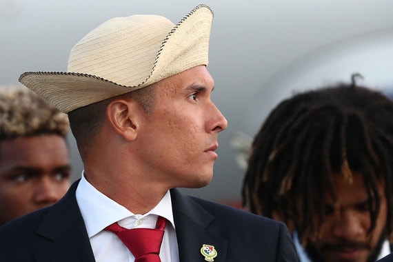 Игра между Панамой и Тунисом  пройдёт 28 июня в Саранске. На фото – игрок национальной сборной Панамы Блас Перес