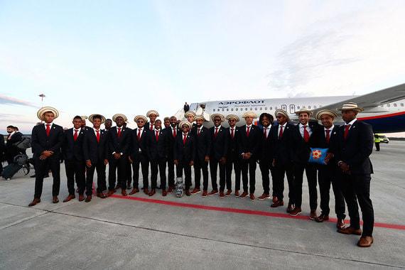 Сборная Панамы по футболу в аэропорту Саранска