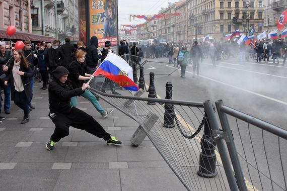 Акция «Он нам не царь» в Петербурге