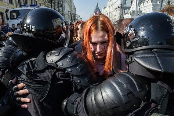 Акция «Он нам не царь» в Москве