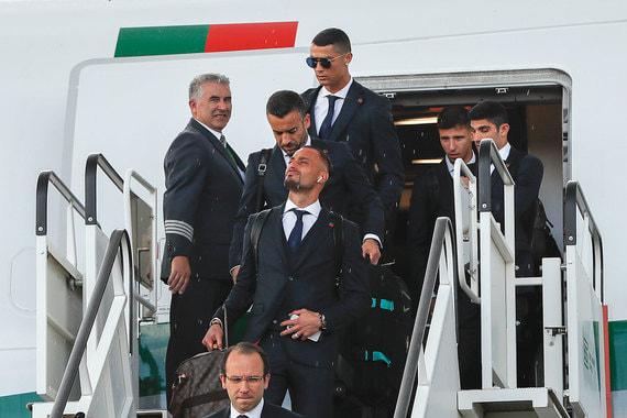 Сборная Португалия прилетела в подмосковный аэропорт «Жуковский»