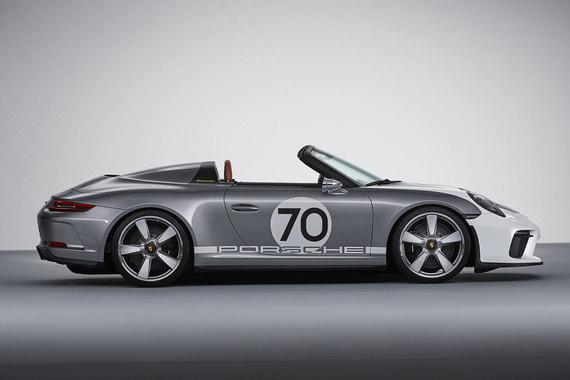 911 Speedster Concept отличается от других модификаций основной модели марки укороченной рамкой лобового стекла и заниженной линией съемной крыши