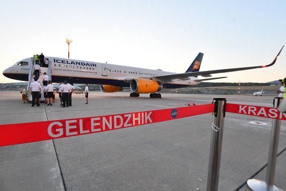 Самолет сборной Исландии