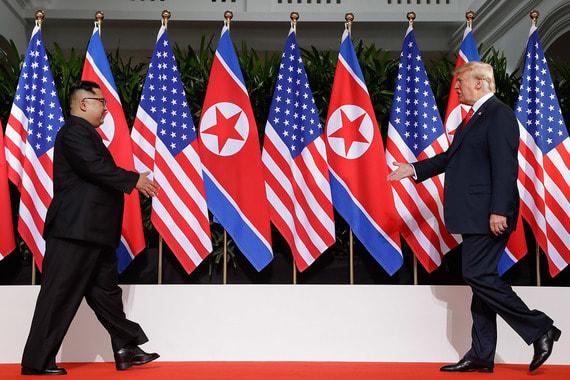 Это первая встреча действующего президента США с лидером КНДР