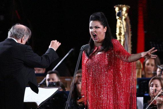 Российская оперная певица Анна Нетребко