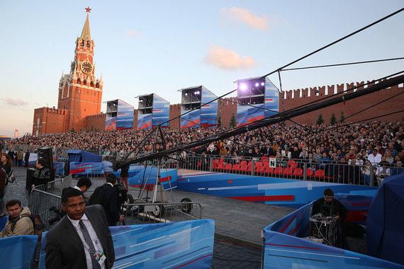 Концерт проходил на Красной площади