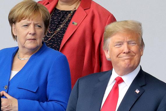 В первый же день саммита Трамп резко раскритиковал Берлин за выдачу разрешения на строительство газопровода «Северный поток – 2». По словам Трампа, в результате Германия окажется «заложницей России». Меркель в ответ напомнила, что Германия давно независима