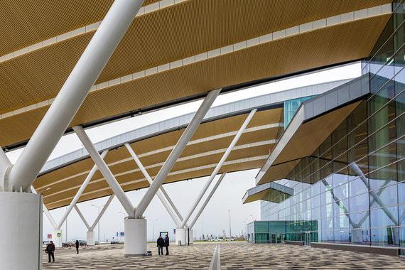 Проект «Платова» разрабатывало лондонское бюро Twelve architects. По словам автора идеи проекта Алекса Битуса, в здании воплощена идея воздушного моста в небо, соединяющего российские города