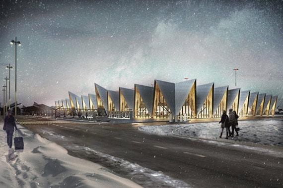 Новое здание будет построено в форме чума - жилища кочевников. Для чего британские архитекторы изучили опыт Скандинавии, где также много снега, экстремально низкие температуры и короткий световой день