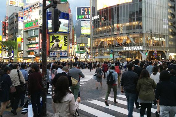 Самый оживленный перекресток в мире - перекресток Сибуя (Шибуя), Токио