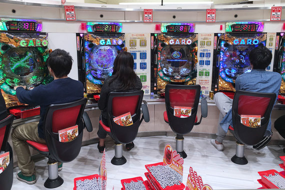 Один из игровых клубов в районе Сибуя, Токио