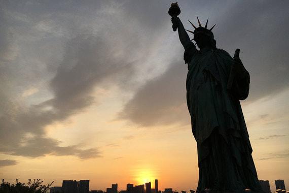«Статуя Свободы» на острове Одайба