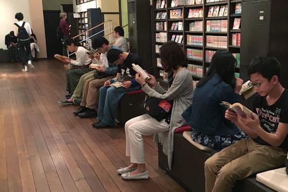 Музей Манги в Киото. Он насчитывает 200 000 экземпляров манги, включая редкие послевоенные книги и журналы периода Мэйдзи