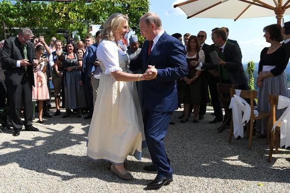 normal 1adt Путин на свадьбе министра иностранных дел Австрии