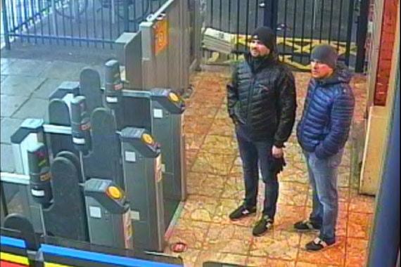 На фото - Петров и Бошировна железнодорожном вокзале в Солсбери, 3 мартаНа следующий день, 3 марта, подозреваемые на метро приехали на вокзал