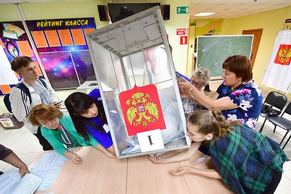 Во время подсчета голосов на одном из избирательных участков во Владивостоке