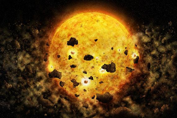На фотографии запечатлены обломки, окружающие звезду RW Aur A, которая находится примерно в 450 световых годах от Земли