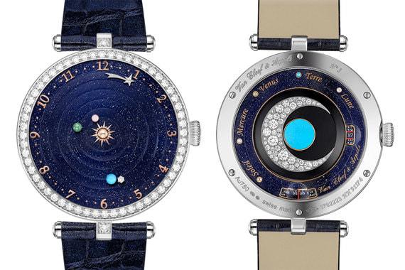 Часы марки Van Cleef & Arpels завоевали две премии. Lady Arpels Planétarium признаны лучшими дамскими часами с усложнением. На циферблате из авентурина расположены Солнце (из розового золота), Меркурий (из перламутра), Венера (зеленая эмаль), Земля (бирюза) и алмазная луна. Стоимость - 257 500 франков