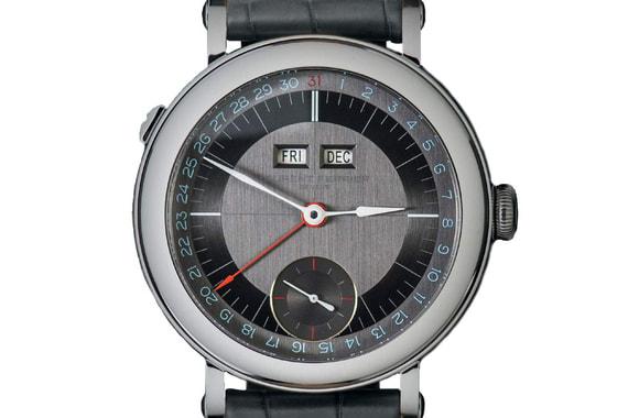 Лучшие мужские часы с усложнениями - Galet Annual Calendar School Piece, Laurent Ferrier. Отображают часы, минуты, секунды, дату, день недели, месяц, а также запас хода. Часы в корпусе из стали оценены в 50 000 франков