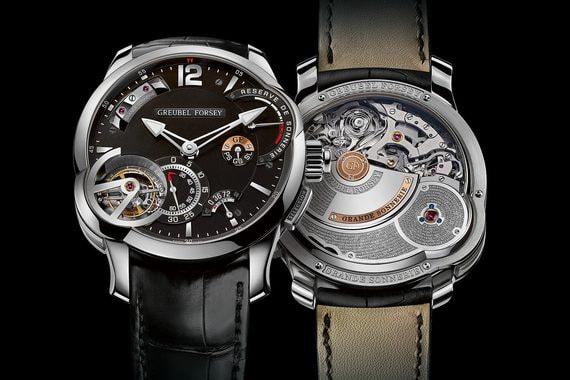 Победителем в категории «Исключительная механика» стали первые часы с большим боем мануфактуры Greubel Forsey - одни из самых сложных и дорогих, созданных Робером Гребелем и Стивеном Форси. Ежегодно выпускается от пяти до восьми экземпляров Grande Sonnerie, цена каждого - от 1,23 млн швейцарских франков