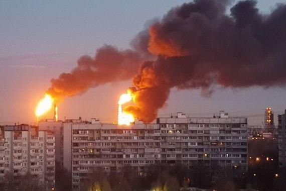 Видео пожара транс нефти