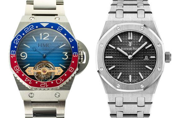 Форма корпуса и безеля напоминает часы Audemars Piguet Royal Oak (справа) 0a342f937e1