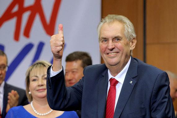 Милош Земан остался президентом Чехии