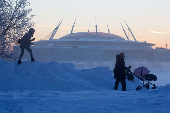 normal xlh Снежные завалы в Санкт Петербурге