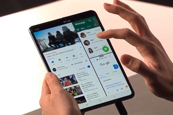 Samsung представил первый в мире серийный смартфон с гибким экраном