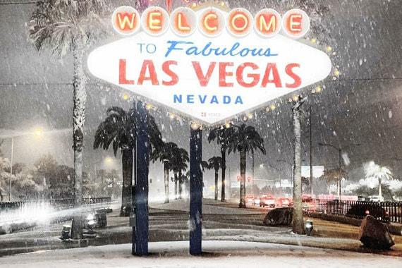 Лас-Вегас впервые за 10 лет замело