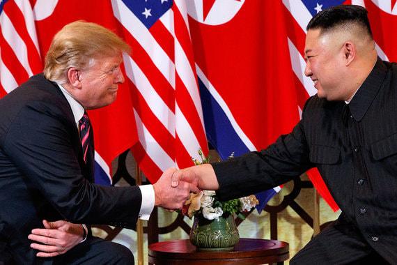 Трамп и Ким Чен Ын встретились во Вьетнаме