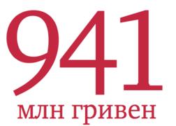 941 млн гривен