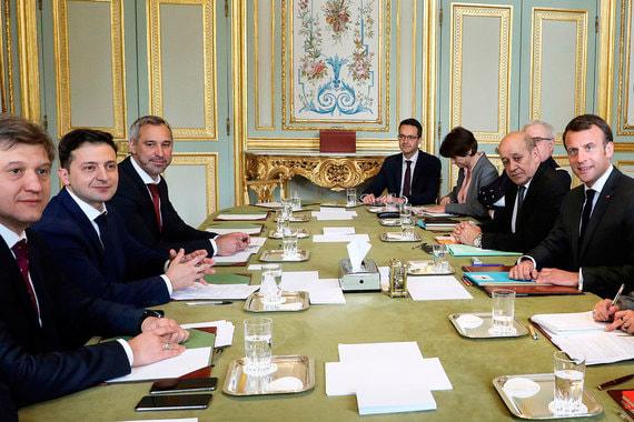 Встреча прошла в Елисейском дворце