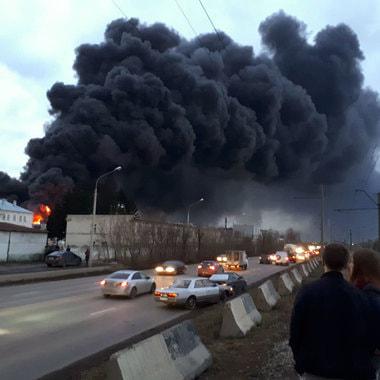 На территории Красноярского машиностроительного завода (АО «Красмаш», входит в «Роскосмос») произошел пожар
