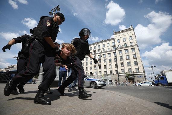 Картинки по запросу Полиция назвала число задержанных в Москве